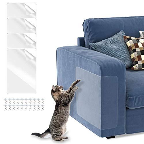 Shengruili 4 PCS Kratzschutz,Kratzschutz Wand Selbstklebend,Couch Protection,Kratzschutz Wand Tapete Katze,Kratzschutz Möbel für Sofa,Protect Your Furniture from Claws, Kratzabwehr Katzen
