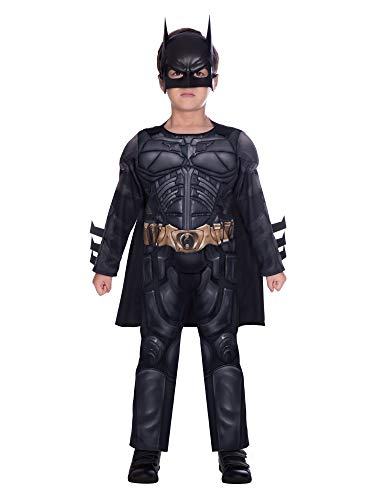 BOYS SUPERHERO COSTUME - DARK KNIGHT BATMAN - SMALL (4 - 6 YEARS)