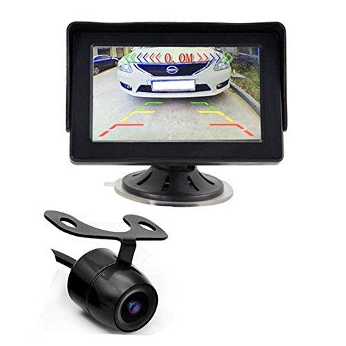 GOFORJUMP 7 IR LED Night Vision Rétroviseur De Voiture Caméra de Recul Parking Système de Surveillance + 4.3 Pouce Couleur LCD Voiture Parking Moniteur Caméra