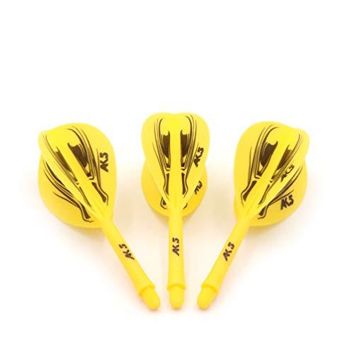 CUESOUL ROST Integrated Dartpfeile Schäfte Shafts and Darts Flights Pear-Teardrop Shape,Set of 3 pcs Drachen Pattern(CSAK-57SDLT)