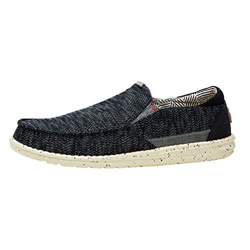 Hey Dude Thad – Zapatos casuales para hombre – Estilo mocasín – Ligero comodidad – Plantilla ergonómica de espuma viscoelástica – Diseñado en Italia y California, color Azul, talla 42 2/3 EU