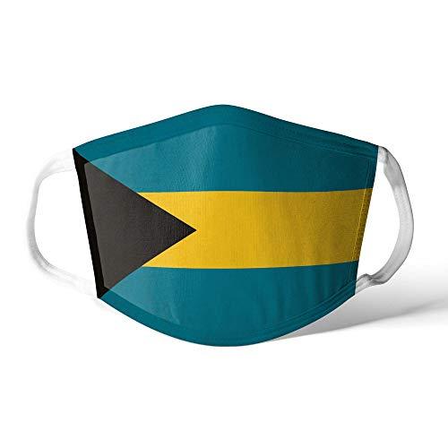 M&schutz Maske Stoffmaske X Groß Amerika Flagge Bahamas/Bahamian Wiederverwendbar Waschbar Weiches Baumwollgefühl Polyester Fabrik