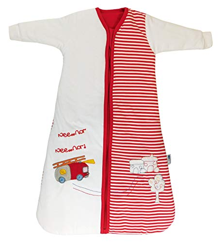 Schlummersack Babyschlafsack Winter Feuerwehr für Jungen Langarm 3.5 Tog 70cm/ 0-6 Monate