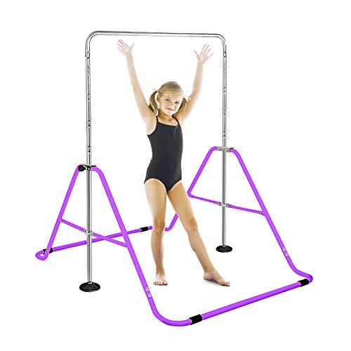 FBSPORT Horizontal Bar, Expandable Gymnastics Kids Bar, Junior Training Bar,...