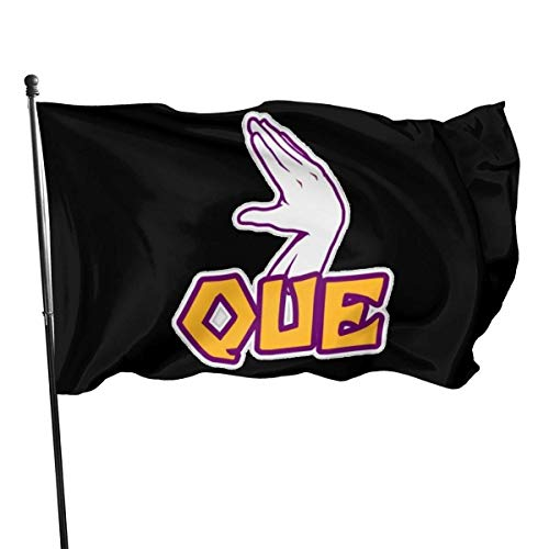 Yuanmeiju Omega Psi Phi Flag 3x5 Ft Vivid Color and Double Stitched Polyester Flags with Brass Grommets for Indoor Outdoor Decoratio