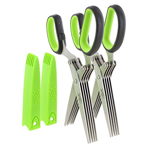 Affordable Ball Herb Scissors with 5 Blades and Cover - Cool Kitchen Gadgets - Cutter, Chopper and M...