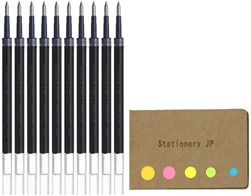 Uni-ball UMR-85N Refills for Gel Ink Ballpoint Pen, 0.5mm, Black Ink, 10-Pack, Sticky Notes Value Set