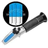 HHTEC Winzer Refraktometer 0-32 Brix (Zucker) 0-140 Öchsle 0-27 KMW mit ATC für Wein Bier Brauen für Messung des Zuckeranteils zur Herstellung von Qualitätsweinen mit Bedienungsanleitung in Deutsch