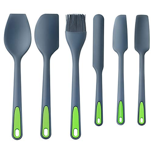 To encounter Silicone Spatula, 6Pieces Seamless Spatula Set Nonstick 600F Heat-Resistant Rubber Turner Spatulas Silicone Spatulas with Stainless Steel Core For Baking, Cooking & Mixing Dishwasher Safe