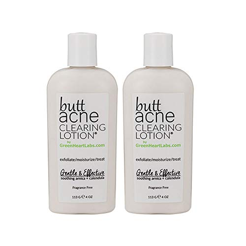 GreenHeartLabs Butt Acne Clearing Lotion, 4 fl oz - 2pc by Green Heart Labs
