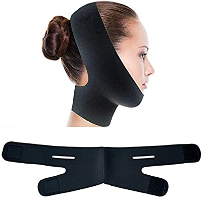 Face Slimming Cheek Strap, V Face Line Belt Breathable Chin Lift Up Anti Wrinkle Sleep Mask Band from YVAN