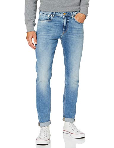 Scotch & Soda Mens Skim Jeans, Silver Ripple 3660, 36W/ 34L