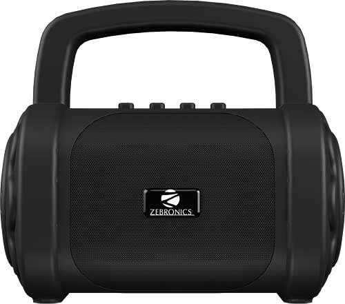 Zebronics Zeb-County 3 Portable Wireless Speaker Supporting Bluetooth v5.0, FM Radio, Call Function, Built-in Rechargeable Battery, USB/Micro SD Card Slot, 3.5mm AUX Input, TWS (Black)