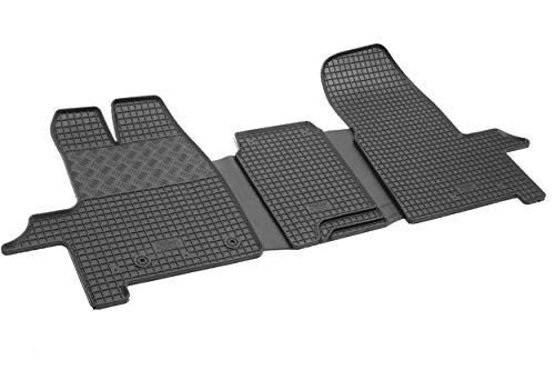 Tapis de sol pour voiture - 4D-RIG-0139 - Caoutchouc - Toutes saisons - Qualité supérieure - Ajustement parfait - Noir