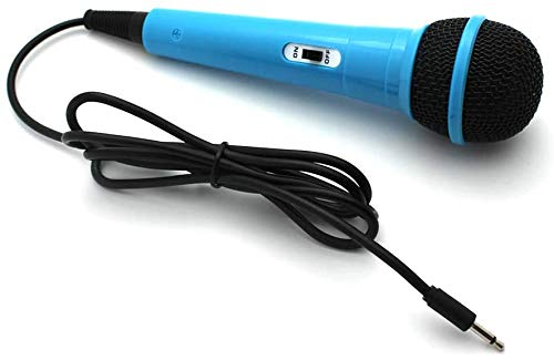 Wired Sing Unidirectional Dynamic Vocal Karaoke Microphone for Speaker/Karaoke Machine 3.5mm Handheld Microphone for Singing with On&Off Switch with 53.1 inch Cable
