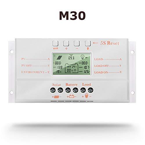 SolaMr 30A Regulador de Carga Solar 12V/24V Identificación...