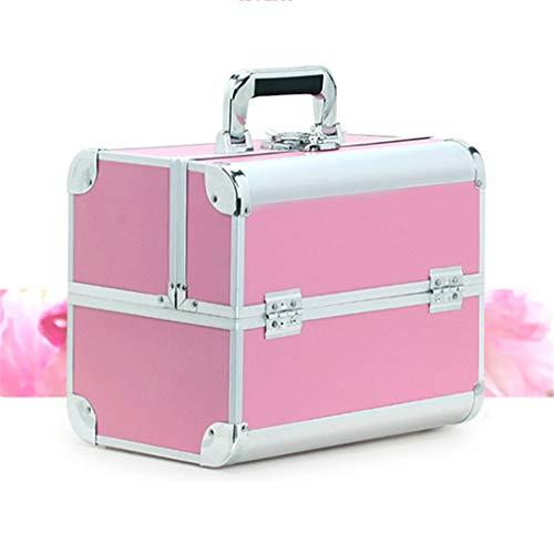 Cosmétiques Box Cosmétiques Professionnels Sac Suitcases De Grande Capacité Femmes Maquillage Voyage Sacs Manucure Cosmétologie Case Rose
