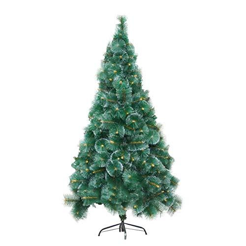 Árbol de Navidad de pino de nieve, árbol de Navidad artificial flocado, cifrado con bisagras para el hogar, tiendas y hoteles, verde 180 cm