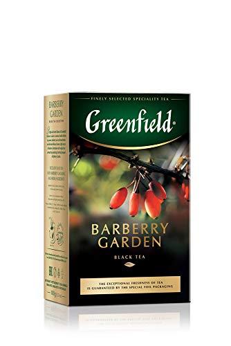 GREENFIELD BARBERRY GARDEN | Schwarztee | Aromatisierter Schwarzer Tee with Hibiskus, Berberitze, Kornblume, Vergissmeinnicht | Flavoured Black Tea | Lose Tee Leaf | 100g