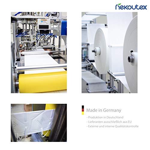 FFP2 Premium Atemschutzmasken in hygienischer luftdichter Einzelverpackung vom Deutschen Hersteller, 4-Schichten Schutz der Atemwege mit CE (NB2841), 10 STK. - 3