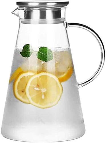 Tetera de cristal Tetera Taza 1,8 l / litro jarra con la tapa de cristal de plomo caldera grande Outlet jarro de agua libre tetera de vidrio borosilicato Jug Jug Adecuado for jugo / té de flores (sola