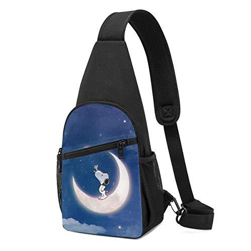 xiameng Sling Backpack Casual Snoopy Sky Crossbody Daypack Shoulder Bag Chest Bag Rucksack