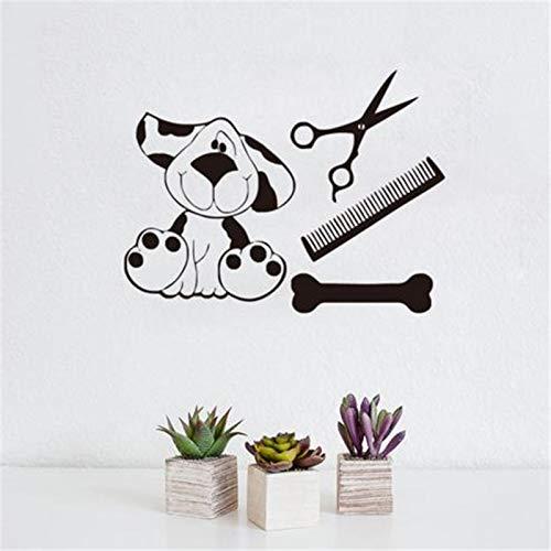 zqyjhkou Cartoon Hundespielzeug Lustige Wandaufkleber Schlafzimmer Dekor Nette Vinyl Tapeten Entfernbare Wandaufkleber Wohnkultur45x60cm