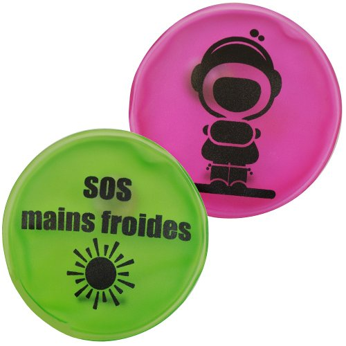 Lot 2 Mini Bouillotte Chaufferette Poche Picto SOS Grand Froid