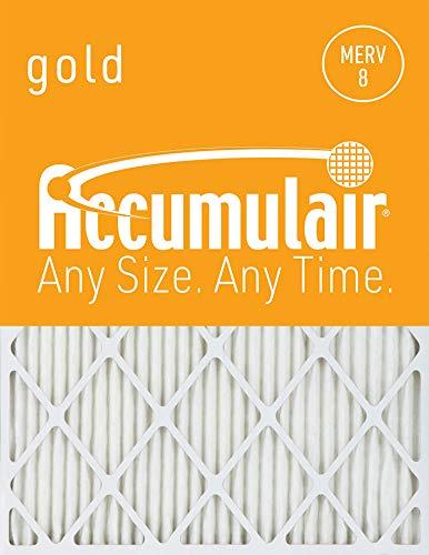 Accumulair Gold 17.5X22x1 (Actual Size) MERV 8 Air Filter/Furnace Filters (4 Pack)
