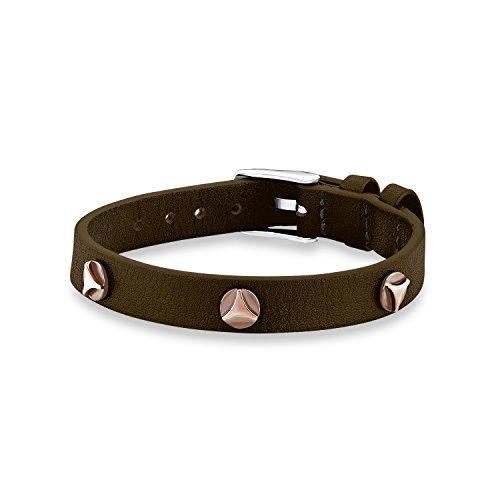 s.Oliver Kinder-Armband Boys Lederarmband Edelstahl Leder braun 19 cm - 541169