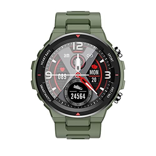 KaiLangDe Smartwatch Reloj Inteligente con Pulsómetro Cronómetros Calorías Monitor de Sueño Podómetro Monitores de Actividad Impermeable Reloj Deportivo para Android iOS Pulsera (Color : White)