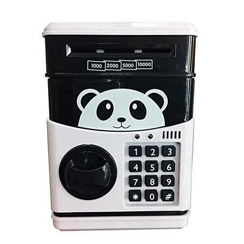 Caja de ahorro de dinero de grandes alcancías Panda Electronic hucha ATM contraseña dinero en efectivo monedas Caja caja de ahorro del Banco Caja fuerte con capacidad automática de la garantía del bil