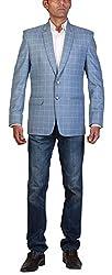STUDIO S Designer Mens Regular Fit Checks Blazer