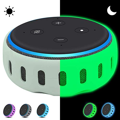 oGoDeal Hülle Abdeckung für Echo Dot 3. Gen. Lautsprecher - Leuchtgrün