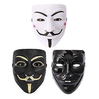 Fstrend V for Vendetta Guy Mask Halloween Costume Cosplay Masquerade Unisex