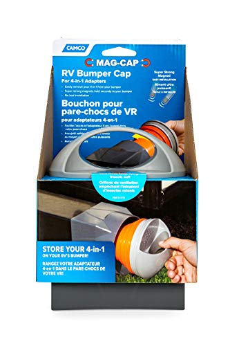 Camco Magnetic Cap Allows You to Conveniently Store Your 4-in-1 Adapter in Your RV, Camper, or Trailer Bumper During Travel Vented for Air Flow (40335)