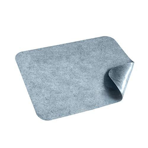 HomeProtect® | Schmutzfangmatte - Türmatte SUPERDÜNN 2 mm - Selbstklebende Fußmatte, Schuhmatte, Fußabstreifer, Türvorleger, Sauberlaufmatte, rutschsicher - waschbar - grau (60 x 98 cm)
