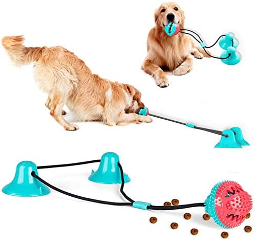 Dog Chew Suction Cup Tug of War Toys Dog Rope Ball Toys for Chewing Pet Tug Toys for Middle product image