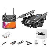 JJDSN Drone 4K con cámara Doble para Adultos, Video en Vivo HD FPV, cuadricóptero Plegable, sígueme, Retorno automático