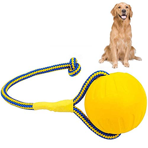 Juguetes Interactivos de Bolas Perros, Pelotas de Goma para Perros, Pelota de Entrenamiento para Perros, para Perros Pequeños y Grandes, Cuidado Dental para Perros, Limpieza de Dientes