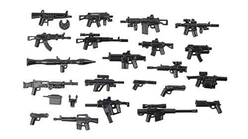 BrickArms Battle Royale Armonpack, 21 pistolas personalizadas para minifgures LEGO