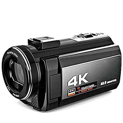 KDMB Cámara de Video Digital Cámara de Video portátil para el hogar 4K 48MP WiFi Cámara de Video Digital Videocámara, reuniones, Bodas, Viajes, Vacaciones