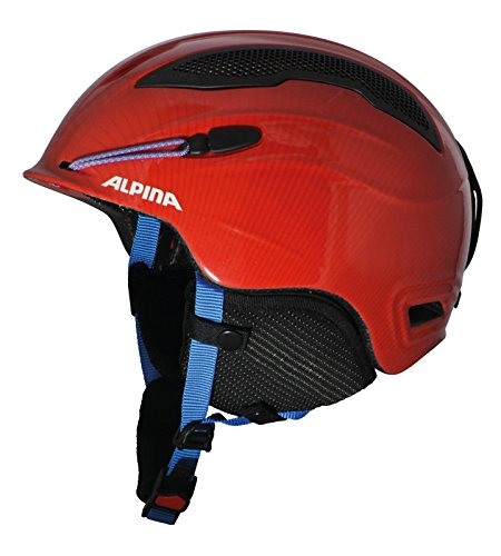 ALPINA Erwachsene Skihelm Snow Tour, Red, 55-59 cm