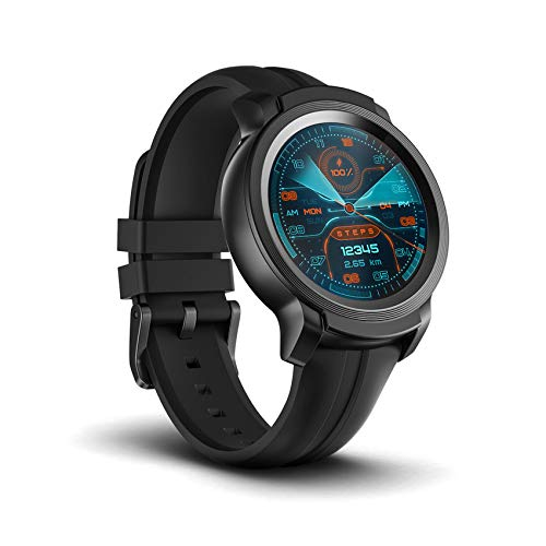 TicWatch E2 smartwatch with Built-in GPS 5ATM Waterproof 24h Heart Rate Monitoring Wear OS by Google Watch iOS...