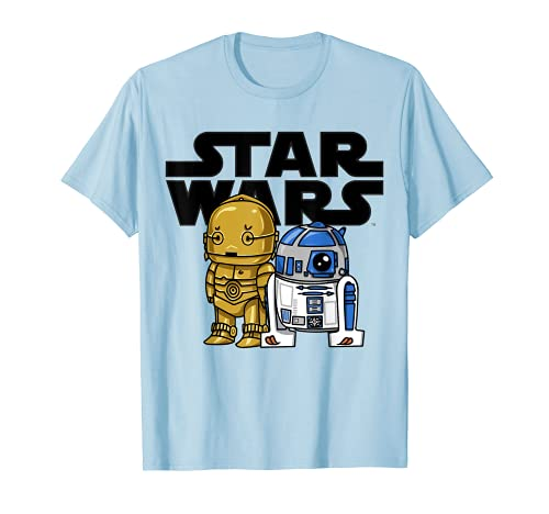 Star Wars Boba R2-D2 and C-3PO Cute Cartoon Graphic T-Shirt