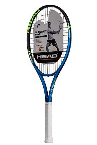 HEAD Ti. Instinct Comp Tennis Racket - Pre-Strung Head Light Balance 27 Inch Racquet - 4 1/8 In Grip, Blue