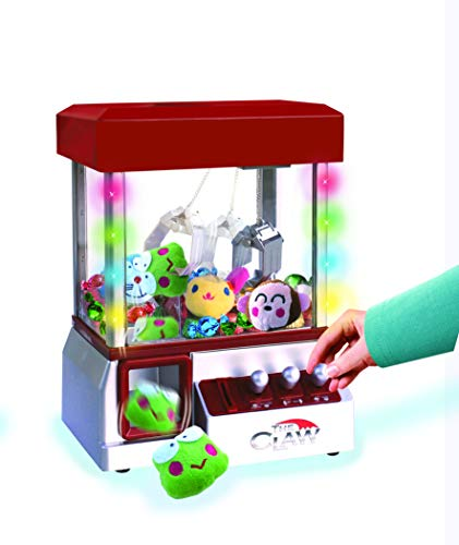 The Claw Toy Grabber Machine with Flashing lights & Sounds and Animal Plush - Features Electronic Claw Toy Grabber Machine, Animation, 4 Animal Plush & Authentic Arcade Sounds for Exciting Play