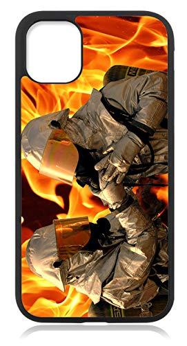 Kompatibel mit Samsung Galaxy S21 Plus Hülle, Silikon Handyhülle Schwarz dünn, Hülle Cover Feuerwehr Motiv Bild