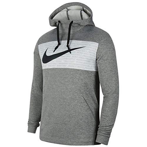 Nike Men's Therma Pullover Hoodie (XL, Dk Grey Heather/Black)
