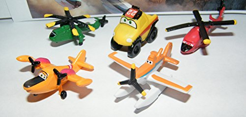 Disney Planes Fire and Rescue Movie Mini Figure Set Toy Playset of 12 with Dusty, Blade Ranger,the Piston Peak Smoke Jumpers and More!